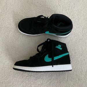 Nike Air Jordan 1 Retro High Black& Teal High Tops